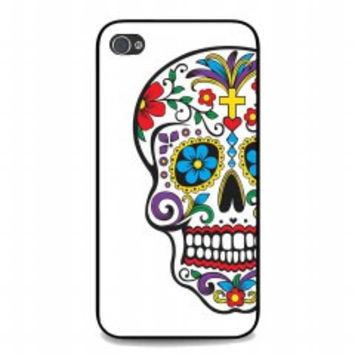 Day of the Dead with flowers for iphone 4 and 4s case