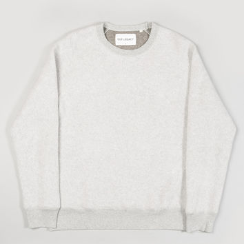 Our Legacy 1950's Great Sweat Grey Cotton Fleece