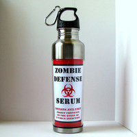 Kitschville — Zombie Defense Serum Stainless Steel Sports Water Bottle