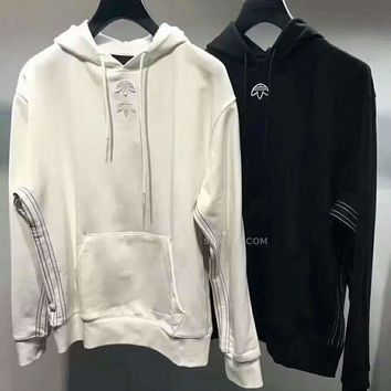 Adidas Long Sleeve Women Man Hooded Hoodies pullover Sweatshirt H-A-GHSY-1