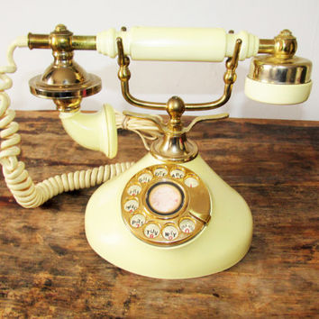 Vintage Princess Victorian Rotary Corded Phone