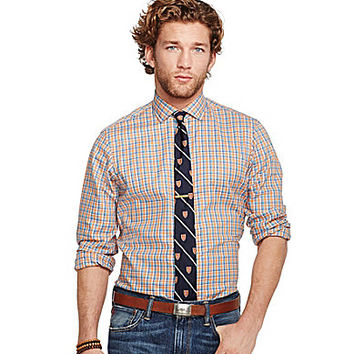 Polo Ralph Lauren Plaid Oxford Estate Shirt - Orange Plaid