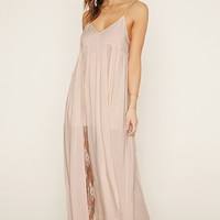 Lace-Paneled Maxi Dress | Forever 21 - 2000185488
