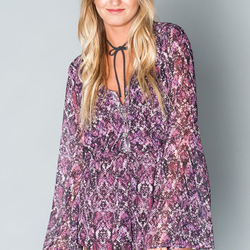 Show Me Your mumu Red Rocks Romper ~ Jewel Of The Nile