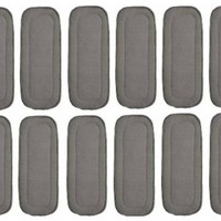 HappyEndingsTM 5 Layer Charcoal Bamboo Inserts for Cloth Diapers (Pack of 12)