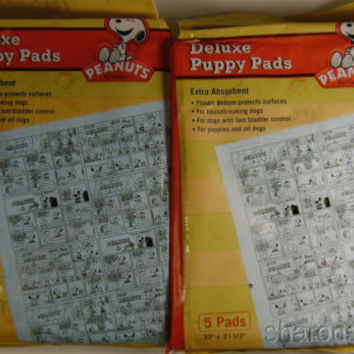 Lot 24 Packs Peanuts Snoopy Deluxe Puppy Pads Waterproof Training 120 Absorbent