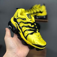 Nike Air VaporMax Plus Yellow Black Toddler Kid Running Shoes Child Sneakers - Best Deal Online