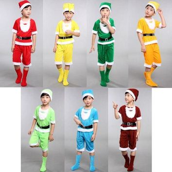 DCCKH6B Seven Dwarfs costume for children christmas costumes for kids snow white princess and the seven dwarfs festival cosplay