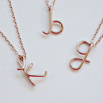 Personalized Monogram Necklace Gold Initial Necklace gift Personalized Bridesmaid Gifts Girlfriend gifts Tiffany's Inspired