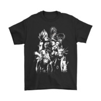 Mashup Anime Bleach Dragon Ball Naruto One Piece Shirts