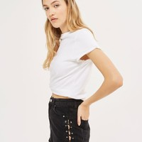 MOTO Lattice Lace Up Side Mom Shorts - New In Fashion - New In