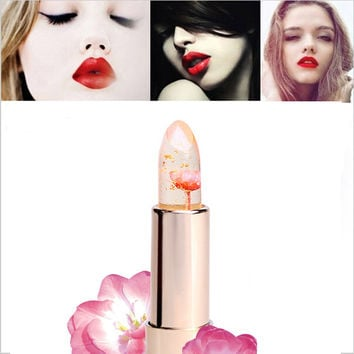 2016 New Kailijumei Moisturizer lipsticks Lips Care Surplus Bright Flower Jelly Lipstick 3 Colors 4g