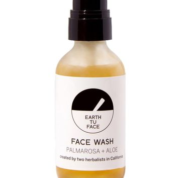 Organic Palmarosa + Aloe Face Wash - 2 oz Travel Size