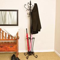 Wildon Home ® Kovar Coat Rack/ Hall Tree with Umbrella Stand