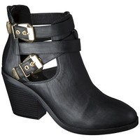 Women's Mossimo® Lina Buckle Ankle Boot - Black