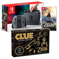 Nintendo Switch Gray w/BotW + Board Game