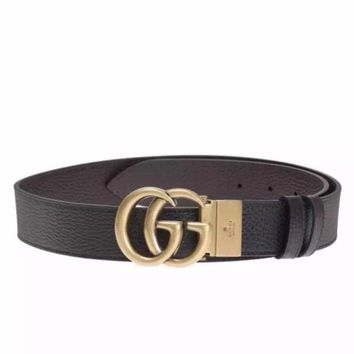 Gucci Marmont Belt. Gold Buckle- Reversible.