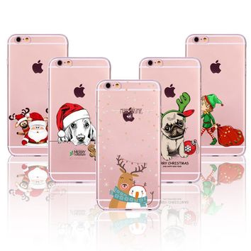 Christmas Cover For iPhone Soft Phone Case 6 6S 7 5 5S SE 6Plus 6SPlus