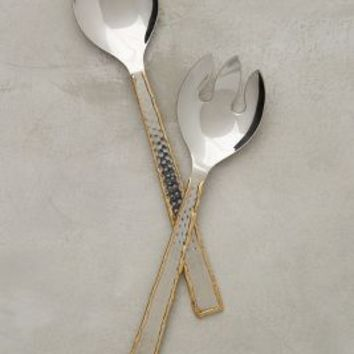 Besart Serving Set by Anthropologie in Gold Size: One Size Serveware