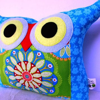 New Year Sale /turquoise owl pillow/decoration cushion/Ready to ship