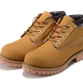 Timberland Rhubarb Boots 23061 Black Yellow For Women Men Shoes Waterproof Martin Boots