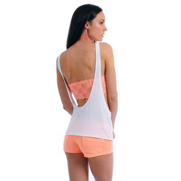 Women's Juniors Open Sides and Back Sleeveless TANK TOP