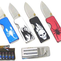 All Metal Moneyclip Pocket knives