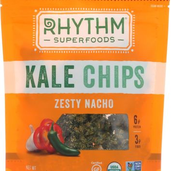 RHYTHM SUPERFOODS: Kale Chips Zesty Nacho, 2 oz