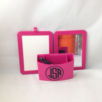 Monogram back to school, monogram locker set, locker organization , back to school, dorm room organization,