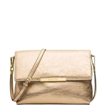 Michael Michael Kors Lana Medium Metallic Leather Shoulder Bag
