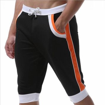 new arrival  mens quick dry sports fitness basketball beach jogger workout pants six colors shorts