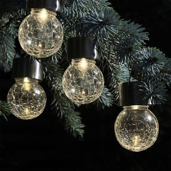 DCCKRE9 2017 New 4pcs christmas led lights christmas decorations Solar Rotatable Outdoor Garden Camping Hanging LED Round Ball Lights