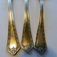 Set of 3 Wm Rogers & Son AA Silverplated Teaspoons - Pattern Dec 28 1915 - Hampden