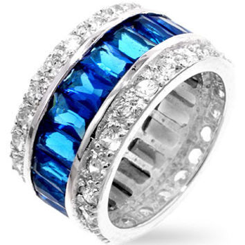 Triple Row Sapphire Eternity Band