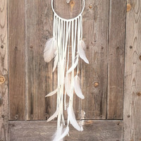 crysalis // 7 inch brazil quartz dream catcher// spirittribe, boho, home decor, dreamcatcher, holiday gift, zodiac, black Friday, birthday