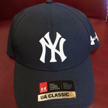 Under Armour New York Yankees Navy MLB Driver Cap 2.0 Adjustable Hat - MLB