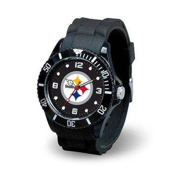 Pittsburgh Steelers Men's Sports Watch - Spirit, Heavy Nylon Sparo Metal Sleeve ColorSilverToned Womens Shirt shipping NFL Hitter Licensed Gamecocks from.., By Hall of Fame Memorabilia