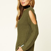 Open-Shoulder Sweater Top