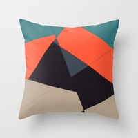 Over the Town Throw Pillow by duckyb