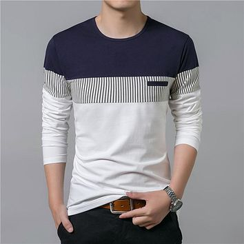 New Men's Long Sleeve O-Neck T-Shirt