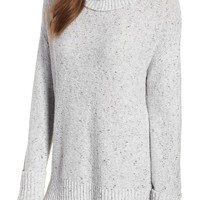 Caslon® Roll Neck Cotton Wool Blend Sweater (Regular & Petite) | Nordstrom