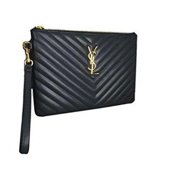 Saint Laurent classic V-shaped pattern wallet clutch bag YSL bag