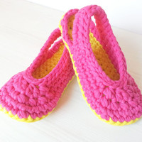Crocheted Slingbacks for children, teens, adults, optional Outdoor-Sole, comfort, washable