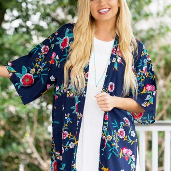 Bold Blooms Kimono | Monday Dress Boutique