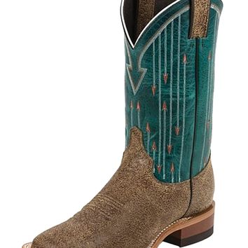 Justin ® Bent Rail Teal Arrow Stitched Cowgirl Boot