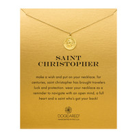 Saint Christopher Charm, Gold Dipped | Dogeared