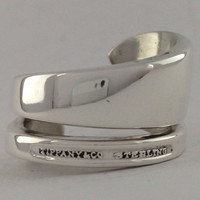 Size 8.5 Vintage Tiffany & Co. Solid Sterling Spoon Ring