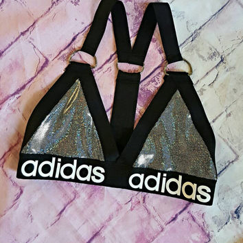 Reworked d ring adidas bralette