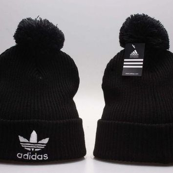 7f737e496ed58 Perfect adidas Print Women Men Hip hop Beanies Winter Knit Hat Cap