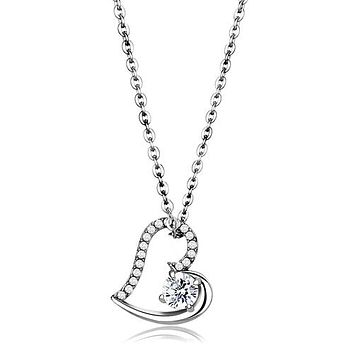 A Perfect 1CT Russian Lab Diamond Heart Pendant Necklace